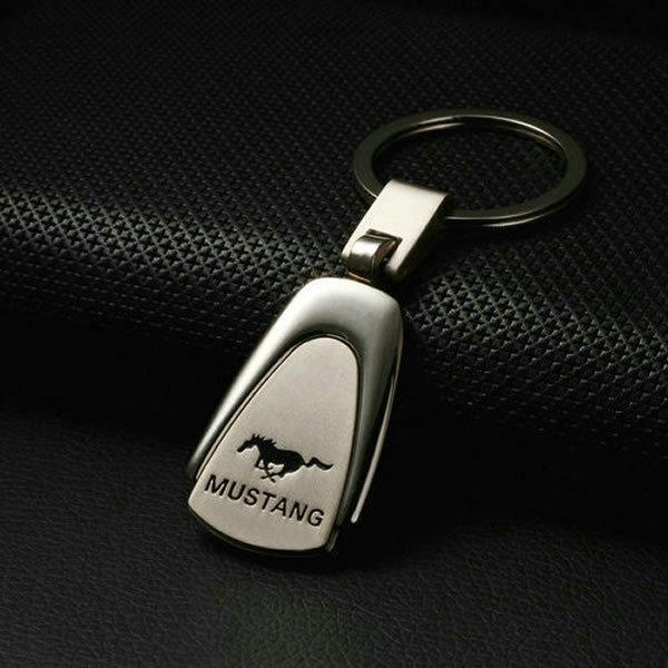 Mustang Car Keychain Emblems For All Mustang Car (Silver) Keyrings Car Key Part Pendant Metal Fashion For Mustang(China (Mainland))