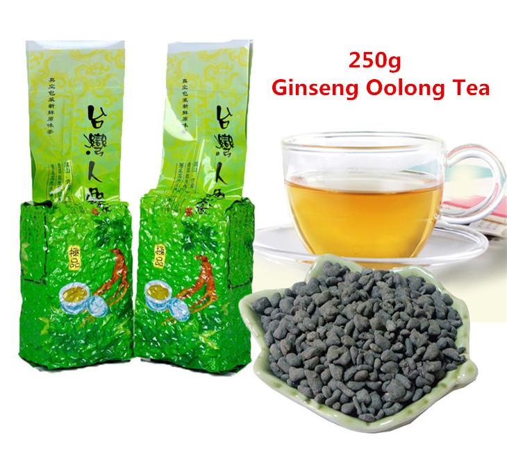 250g Famous Health Care Taiwan Ginseng Oolong Tea, Chinese Ginseng Tea, Slimming tea, Wulong Tea, Free Shipping + Secret Gift(China (Mainland))