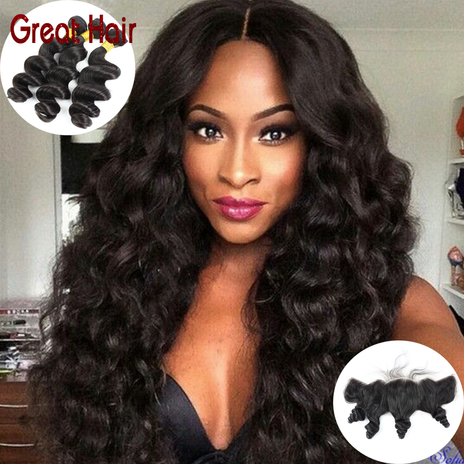 7A 13x4 Lace Frontal Closure With Bundles Brazilian Virgin Hair With Closure Loose Wave Lace Frontal With Bundles Aliexpress uk<br><br>Aliexpress
