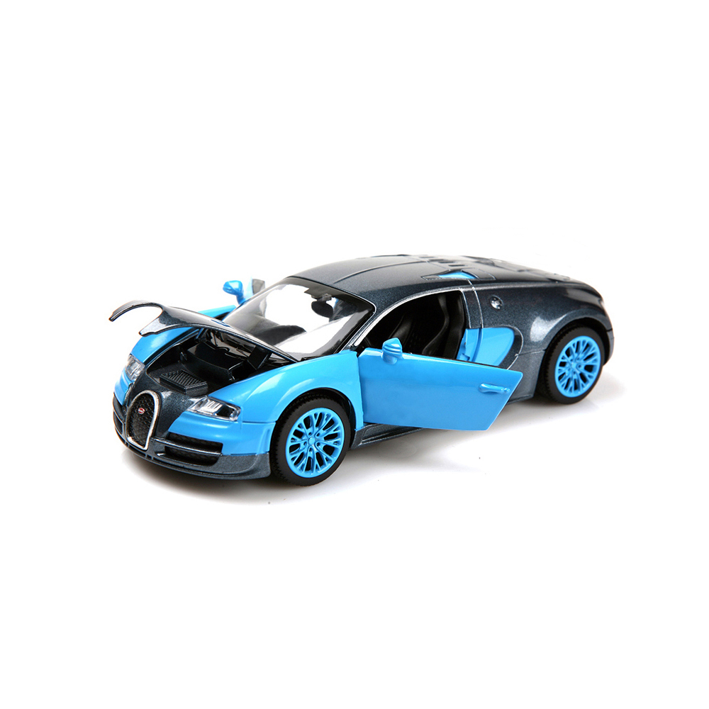 New model car collection 1:32 alloy car Bugatti Veyron die-cast metal model cars Back car children's toys with light and music(China (Mainland))
