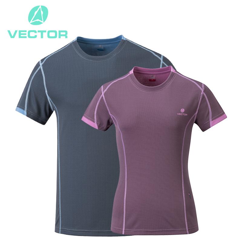 VECTOR Quick Dry Running T-Shirts Men Women Summer Breathable Shirts Short Sleeve Coolmax T-Shirt Outdoor Sport Run Fishing(China (Mainland))
