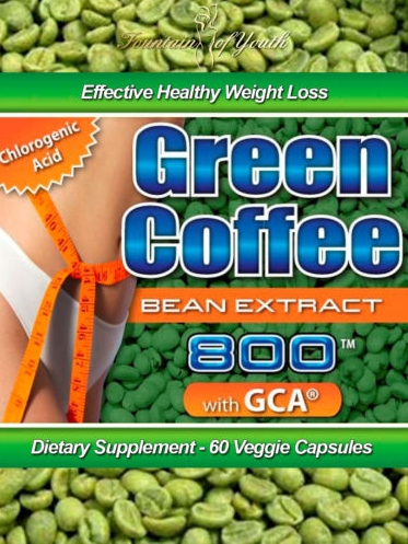1Pack 100 Pure Nature Green Coffee Bean Extract 500mg x 100Caps for weight loss