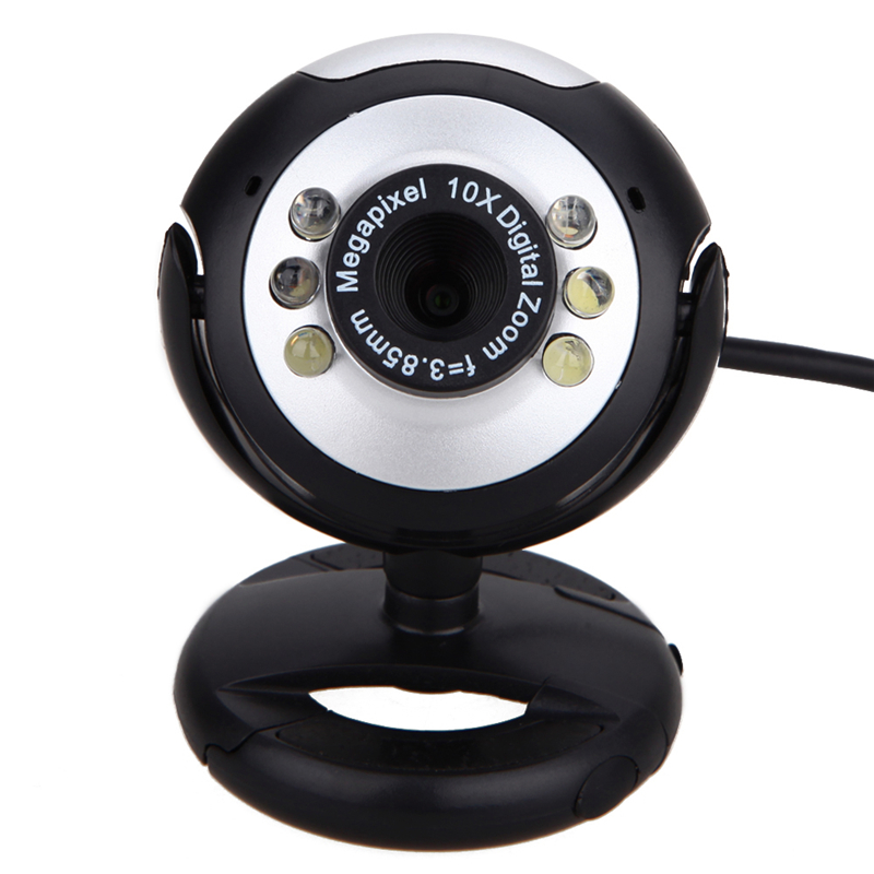 0.5MP 6 LED Webcam USB Camera with Mic for PC Laptop Computer High Quality(China (Mainland))
