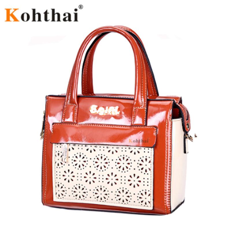 Kohthai Women Bag Women Messenger Bags Handbags Women Famous Brands Bolsa feminina Leather Bench Designer High Quality FB303(China (Mainland))