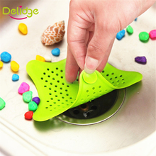 1pcs Star Shape Floor Drain Rubber Cute Five stars Bathroom Shower Drain Cover Hair Stopper  Catcher Sink Strainer Sewer Filter(China (Mainland))