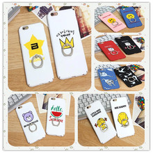 Hard shell Text pattern All Inclusive case for Apple IPhone6 6S 6plus 6Splus Scrub ring buckle bracket mobile phone shell pg ip6