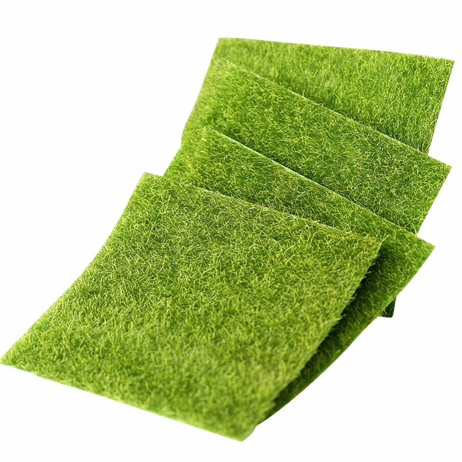 Artificial lawn miniature garden ornament fake grass for Faux grass for crafts
