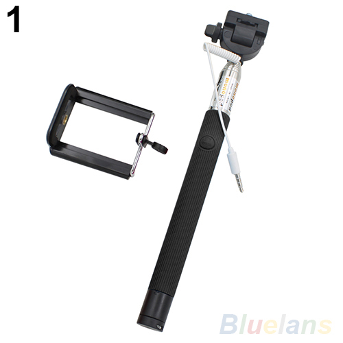 10356 Extendable Selfie Wired Stick Phone Holder Remote Shutter Monopod For iPhone 1UBH 2V3N