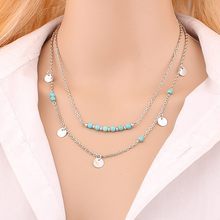 Multilayer Round Pendant Necklace for Ms Hot Style Wholesale Nameplate Necklace Chain Cross Necklace(China)
