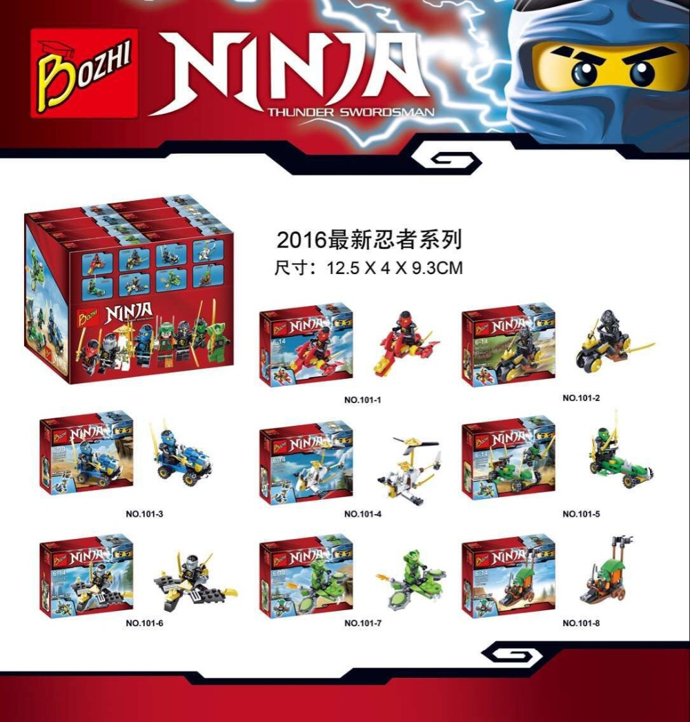Bozhi 101 Ninja Series Phantom Ninja Spinjitzu Minifigures Building Block Minifigure Toys Compatible With Lego<br><br>Aliexpress