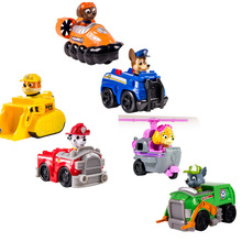 5-9cmPlastic Puppy Patrol Dogs patrulla canina Action Figure Anime Toys Figurine Car Children Gifts baby kids Auby Anyoutdoor(China (Mainland))