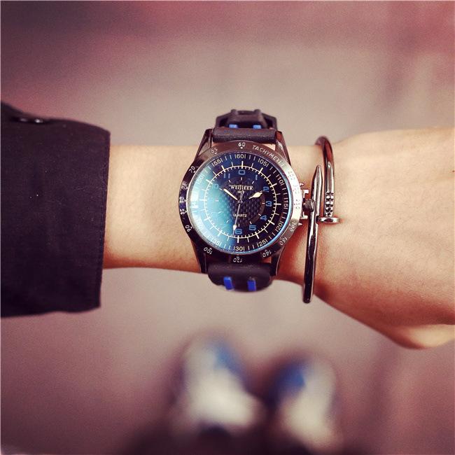 2016 Men Sport Watches Retro Blue Glass Waterproof Man Casual Quartz Wristwatch Military Army Outdoor Watches Geneva Clock(China (Mainland))