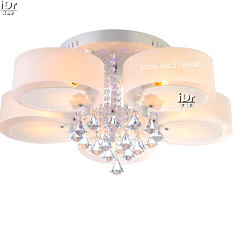 Modern Crystal Ceiling lights Acrylic minimalist living room dining room bedroom lamp with warm(China (Mainland))