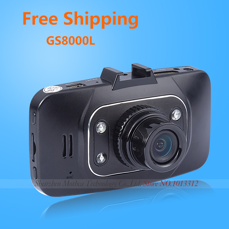 """Novatek 1080P Car Camera GS8000L 4 IR Lights+Glass Lens+H.264+2.7""""+1920*1080 for Mini GS8000 Car DVR Recorder Free Shipping(China (Mainland))"""