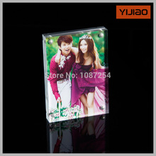 """7""""X5"""" acrylic double photo frame with magnets(China (Mainland))"""