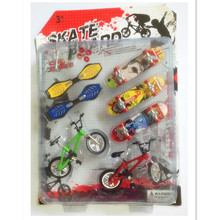 New Arrival  Plastic Bicycle Finger Skateboard Toys for Children Sets,Funny Mini Fingerboards Toys for Kids Gift(China (Mainland))