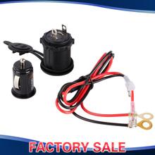 12V - 24V Waterproof Motorcycle Car Cigarette Lighter Socket Power Plug + Mini Dual USB 2.1A Car Charger Adapter Combo(China (Mainland))
