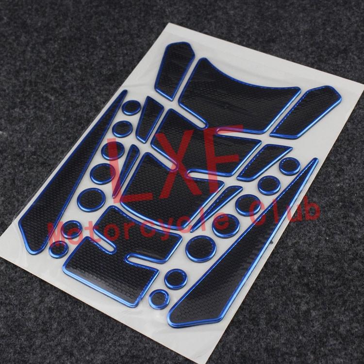 Free Shipping Motorbike Tank Pad Motorcycle Protector Sticker Blue For Kawasaki Ninja250 Z250 Z250SL Ninja300 Nina650(China (Mainland))