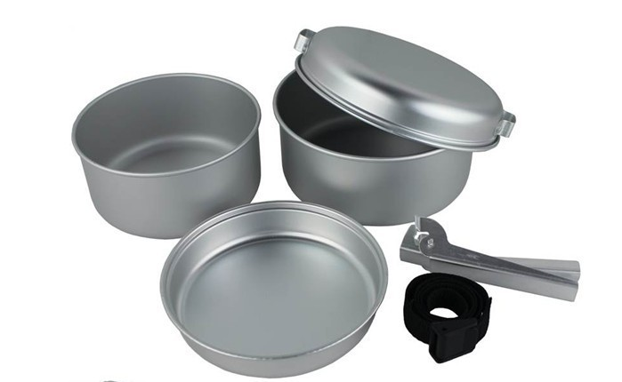 Outdoor camping Pan plates supplies aluminum cookware Camping Cookware 2-3 people, ultralight models(China (Mainland))