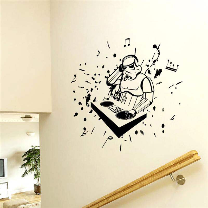 Etiqueta de la pared notas musicales de alta calidad for Stickers pared baratos