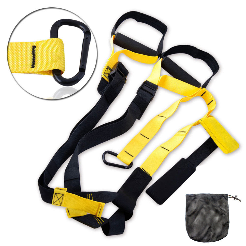 2015 new fitness yoga chest hanging belt hanging rope Stretch Belt resistance training device  fitness resistance bands<br><br>Aliexpress
