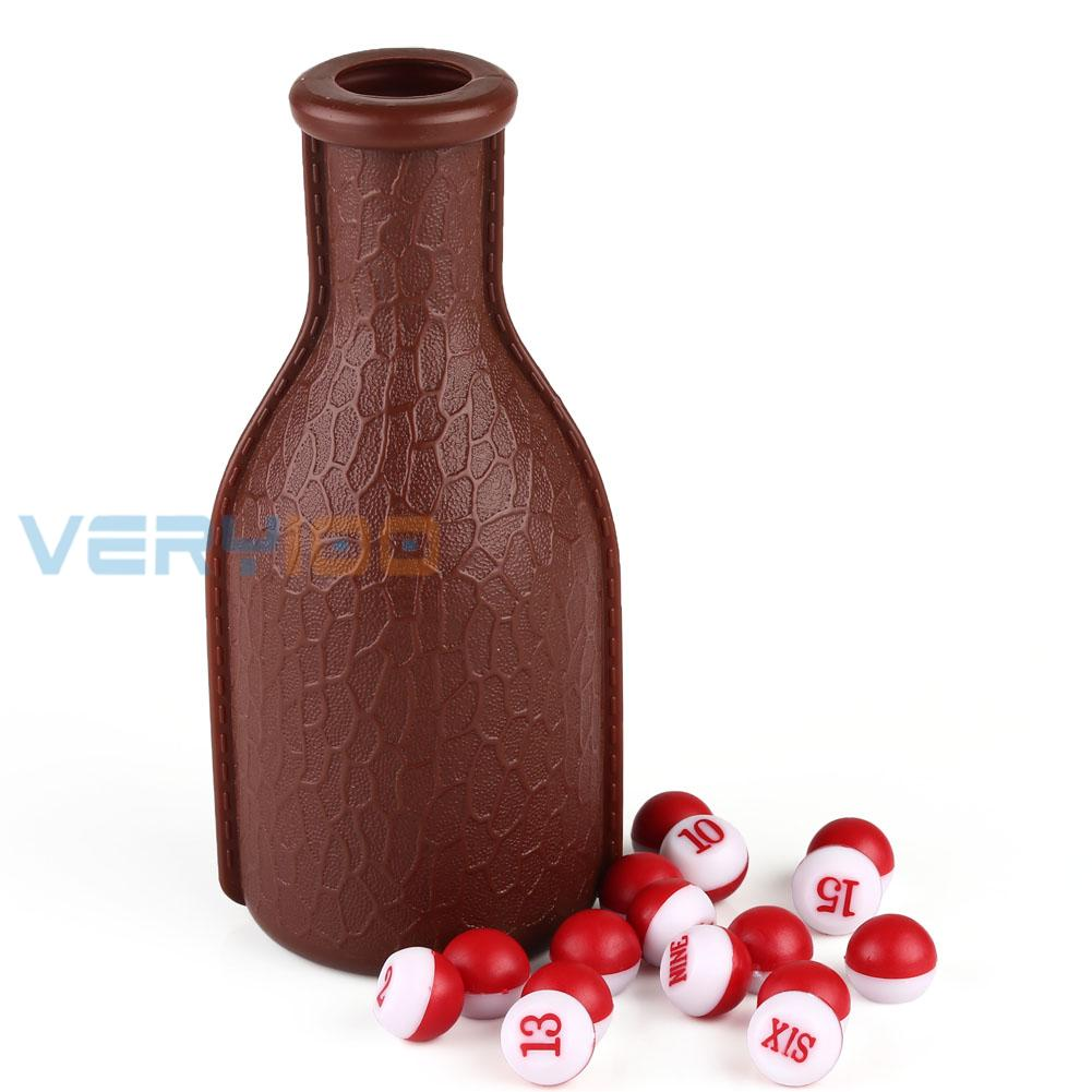 High Quality Deluxe KELLY POOL Billiard Table Pea Shaker Bottle and 16PCs Tally Peas Set(China (Mainland))