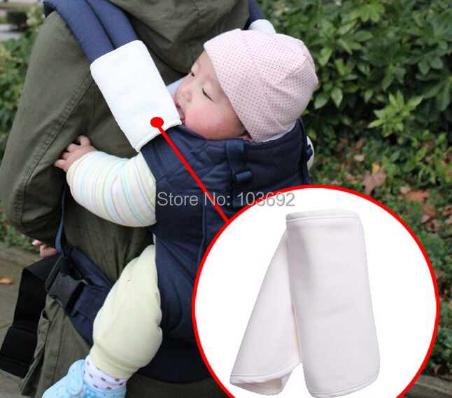 2015 updated One pair cotton Looped Fabric Baby Teething Pad/Safety Sucking Pad/Baby Slobber Towel-Attached around baby carrier(China (Mainland))