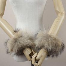 Real Genuine high quality raccoon fox fur cuffs cuff(China (Mainland))