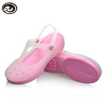 Free Shipping Woman Summer Change Color Sandals Hollow croc Beach Shoes Leisure Girls Jelly Female Garden Shoes