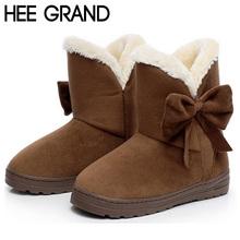 2016 Nuevas Mujeres de la Nieve Botas, Botines Cortos Con Gran Bowtie, Plataforma Rebaño Cómodo Warm Fur Dentro de Invierno zapato XWX1385(China (Mainland))