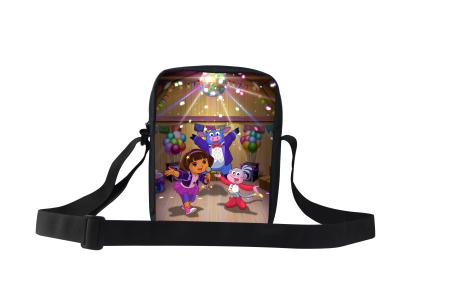 New Arrival 3D cartoon bag dora adventurous school bag for girls dora sac a dos children school bag dora kids backpack mochilas(China (Mainland))