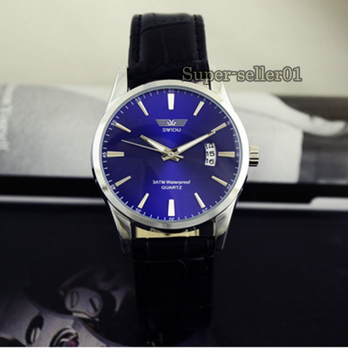 Fashion Leather Strap Band Date Analog Quartz Sport Mens Womens Wrist Watch New