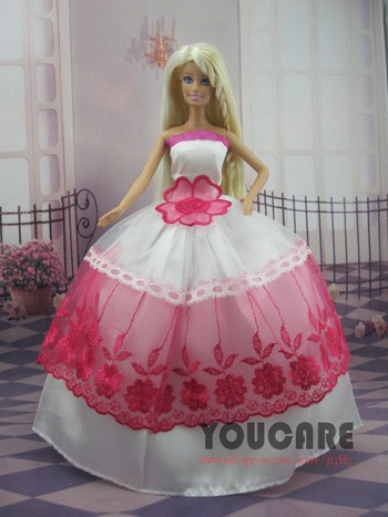 50 Pcs / Lot Wholesale Doll Equipment Stunning Elegant Marriage ceremony Clothes Garments Night Costume for Barbie Doll Free Delivery