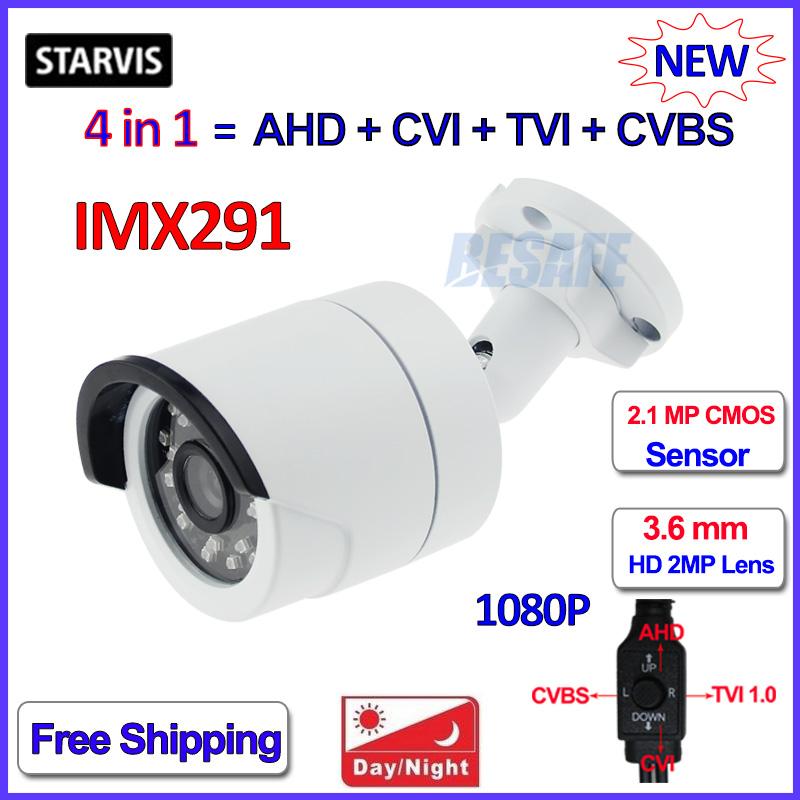 2.0MP 4 in 1 AHD-H HDCVI HDTVI 960H outdoor camera imx291 CMOS 1080P camara vigilancia Color Night Vision, bracket, 2MP HD Lens<br><br>Aliexpress