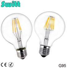 Buy SWITT LED Edison bulb G95 220V 240V 4W 6W 8W Antique Retro Vintage Edison Lamp LED Bulb E27 Filament Light Glass Bulb for $3.79 in AliExpress store