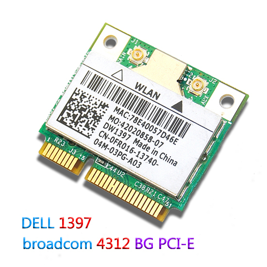 Brand NEW for Dell New WLAN WIFi Mini PCI Express Wireless Card DW1397 802.11a/b/g 4312 54 Mbps(China (Mainland))