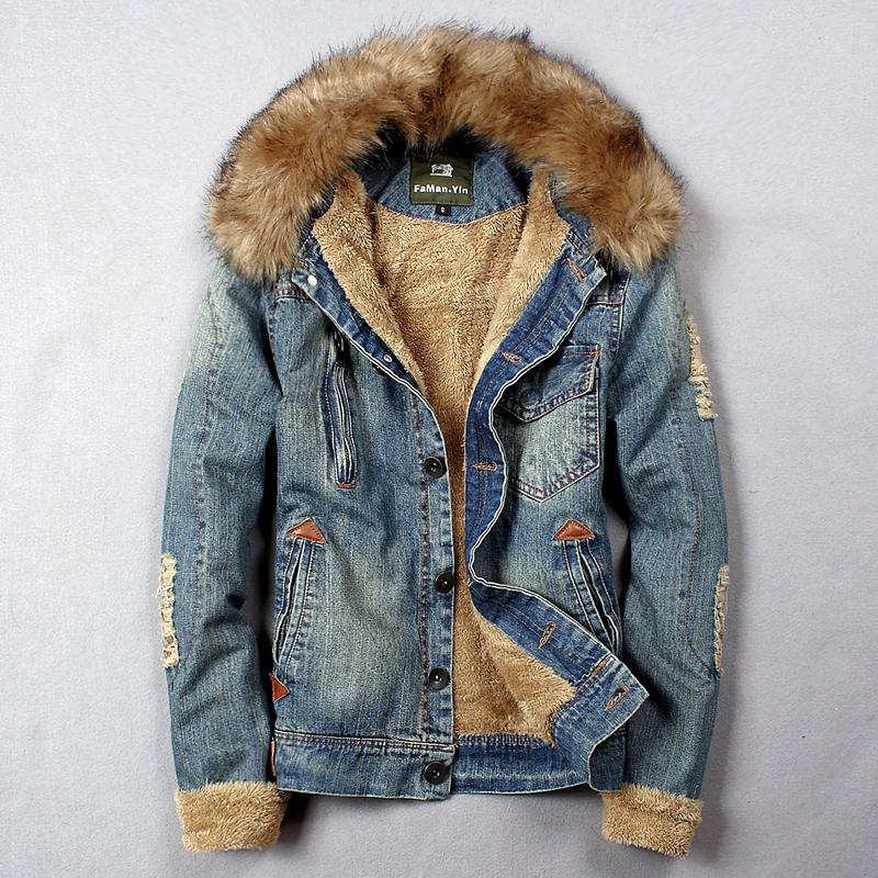 Jean Jacket Fur Collar