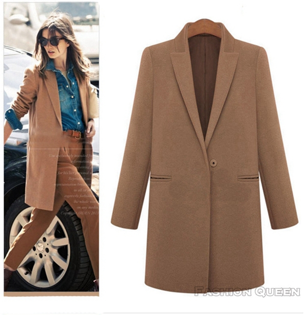 Ladies long brown winter coat – Modern fashion jacket photo blog