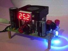 Adjustable LM338K In 3-35V 12v Out 1-25V 5v 3A Converter +Digital led voltmeter free shipping(China (Mainland))