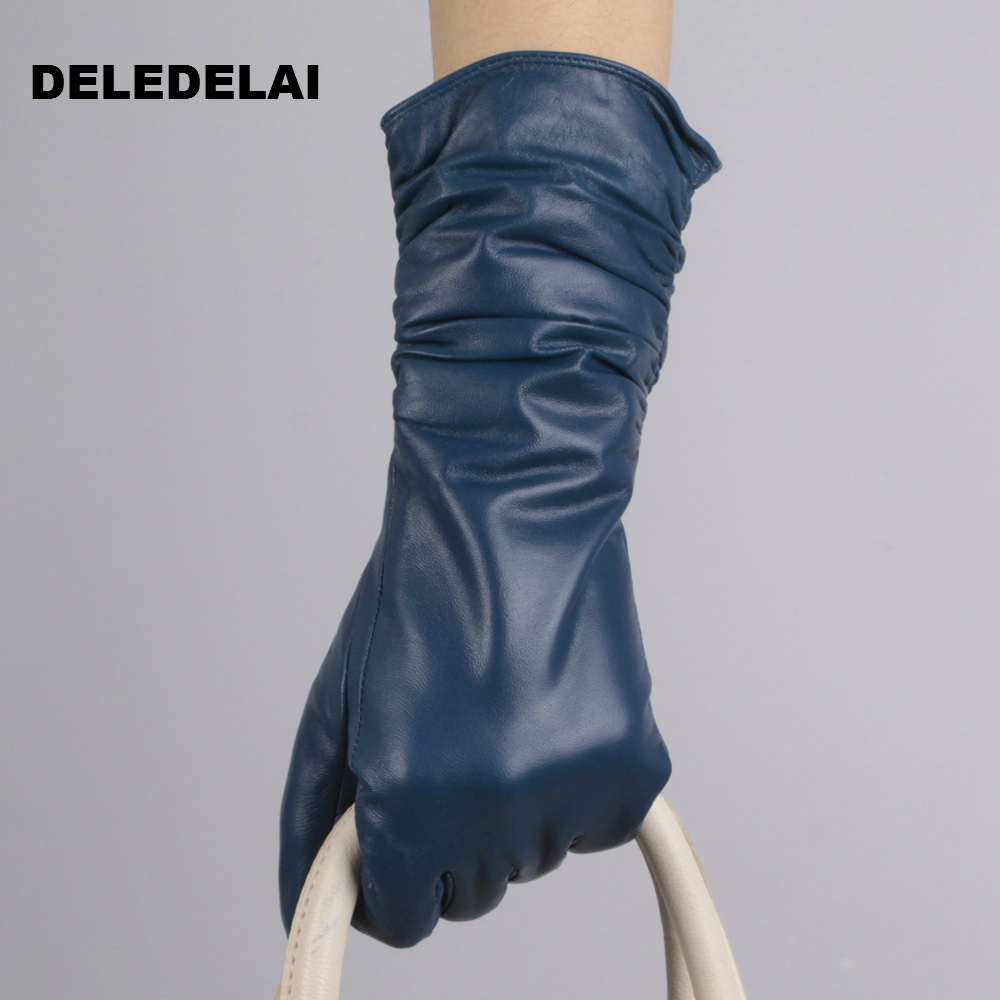 women thick sexy leather driving long gloves party show gift fashion sexy evening dress mittens female gloves