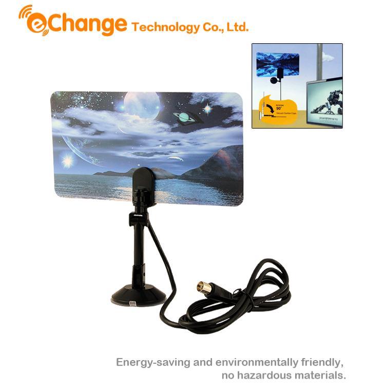 ТВ Антенна EChange UHF VHF HDTV DTV HD Antena EL6111 комплект цифрового тв нтв плюс hd simple сибирь