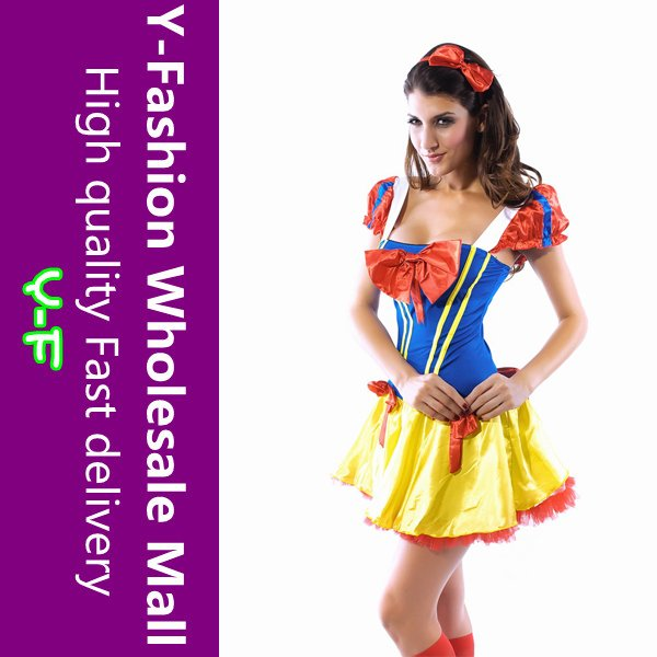 Fashionable Snow White Adult Female Storybook Princess Sexy Costume YF8301 + Free Shipping + Cheaper price(China (Mainland))