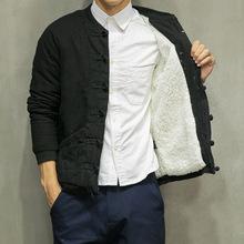 Gaya cina Musim Gugur dan Musim Dingin Mode Mantel Domba Mantel Wol Tipis pria Pakaian Gaya Cina Tradisional Antik Jaket