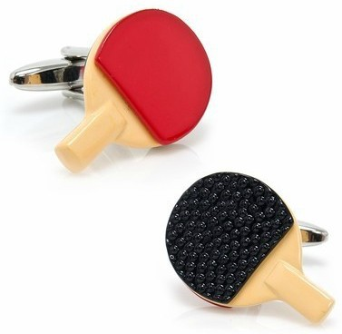 New Design Factory Price Retail Men's Cufflinks Copper Material Ping Pong Paddle Design Cuff Links Free Shipping(China (Mainland))