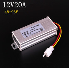 Converter Adapter to Voltage Transformer DC 96V 72V 64V 60V 48V TO 12V 20A Current(China (Mainland))