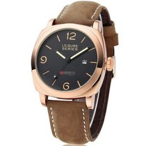 Marca de lujo hombres ocio reloj moda hombre relojes de pulsera de cuarzo hombres deportes relojes hombres de cuero Casual reloj Relogio envío gratis