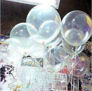 Free shippingwholesales 10 inch clear Latex  balloons ,transparent balloons , wedding/party/brithday decoration  (100pcs/lot)
