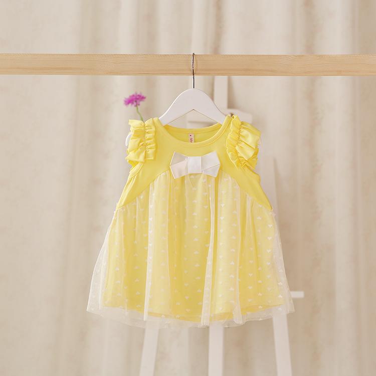 2015 New summer baby girls lace vest dress children dress bow 4 colors 5 pcs/lot wholesale 2146<br><br>Aliexpress