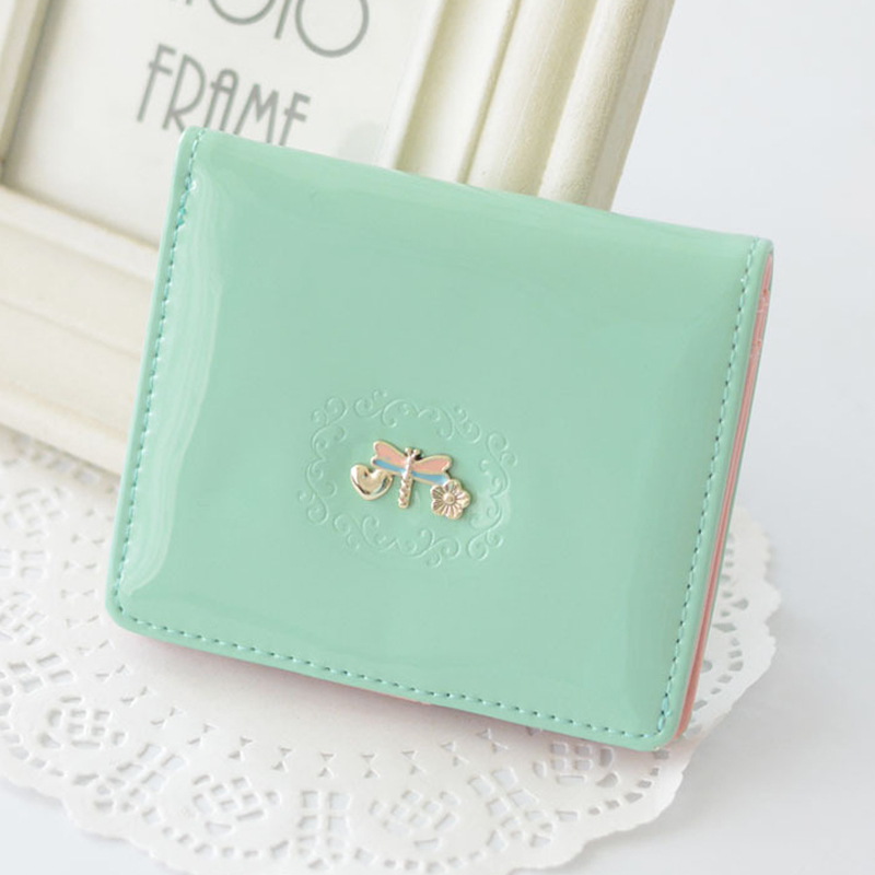 Creative Design Little Dragonfly Decoration Cute Mini Wallet Short Purse Portable Hasp Cards Bag Good Girls Gifts P586(China (Mainland))