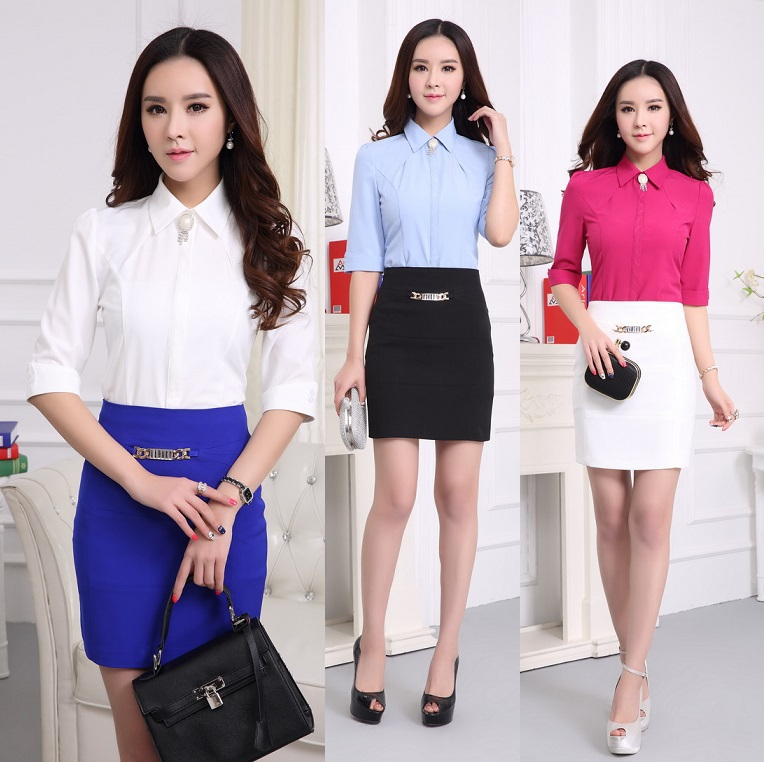 New 2015 summer female work wear office suits formal for Office uniform design 2016